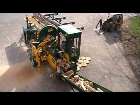 Cord King CS2040 Demo - Fastest firewood processor in the world