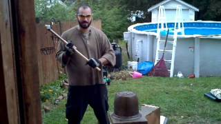 getlinkyoutube.com-Cold Steel War Hammer SMASH TEST TIME!!!