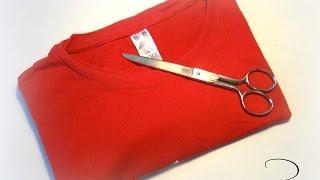 getlinkyoutube.com-Como hacer trapillo  reciclando camisetas para hacer collares de nudo celtas