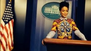 getlinkyoutube.com-Rihanna's Weird White House Illuminati Ritual!