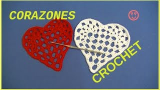 getlinkyoutube.com-Corazones romanticos en tejido crochet o ganchillo tutorial paso a paso.