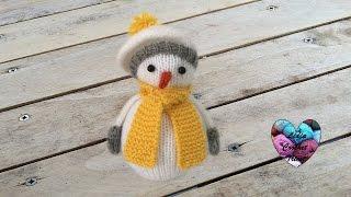 getlinkyoutube.com-Bonhomme de neige tricot 1/2 / Knitting Snowman 1/2 (english subtitles)