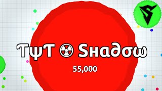 getlinkyoutube.com-ƬψƬ ☢ Sнα∂σω IS BACK!? 55,000 Mass Agario Highscore Gameplay // Agar.io TYT