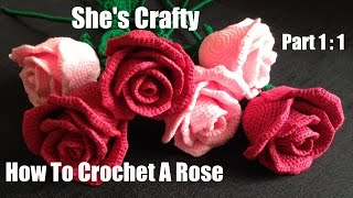 getlinkyoutube.com-How To Crochet A Rose: Easy Crochet lessons to crochet flowers part 1:1