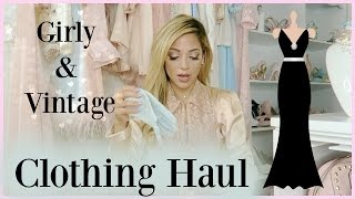 getlinkyoutube.com-Girly Clothing Haul 2016 | blush, rose golds, & vintage