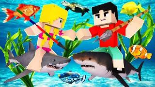 getlinkyoutube.com-Minecraft RAFT - SHARK EATS SHARK?! (Raft Multiplayer)