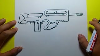 getlinkyoutube.com-Como dibujar un arma paso a paso | How to draw a gun