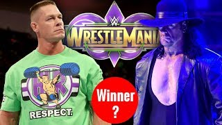 Winner Of The Undertaker Vs John Cena At Wrestlemania 34 ! WWE Wrestlemania 34