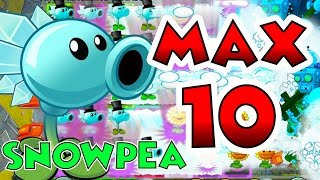 getlinkyoutube.com-Plants vs Zombies 2 Max Level UP - Snow Pea @ Level 10 Maximum Level