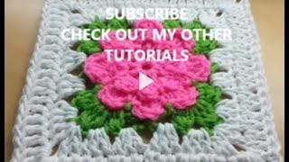 getlinkyoutube.com-CROCHET How to #Crochet rose granny square #TUTORIAL #239