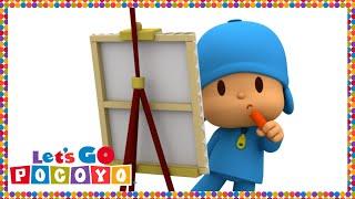 getlinkyoutube.com-Let's Go Pocoyo! - Painting with Pocoyo [Episode 26] in HD