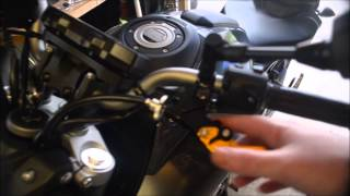 getlinkyoutube.com-Shorty Levers and Fender Eliminator Install FZ07 2015