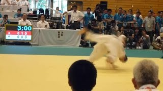 getlinkyoutube.com-2015 全国高校総体 柔道66k級 阿部一二三 初戦