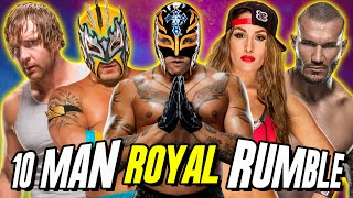 10 Man Royal Rumble (Playing As Rey Mysterio) / WWE 2K16 PC Mods