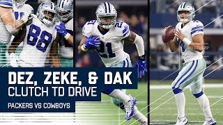Elliott's Great Spin Leads to Dak TD to Dez & 2-Point Conversion! | NFL Divisional Highlights