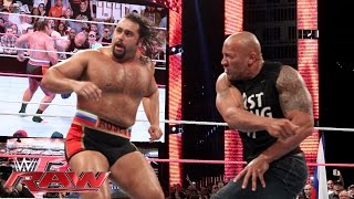 getlinkyoutube.com-The Rock confronts Rusev: Raw, Oct. 6, 2014