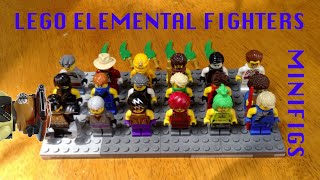 getlinkyoutube.com-Lego All Elemental Fighters Customs Review