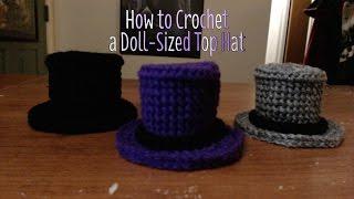 getlinkyoutube.com-How to Crochet a Doll-Sized Top Hat