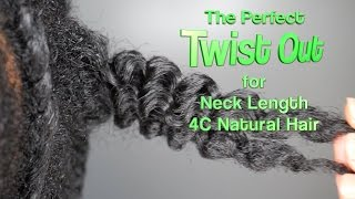 getlinkyoutube.com-The Perfect Twist Out for Neck Length 4C Hair