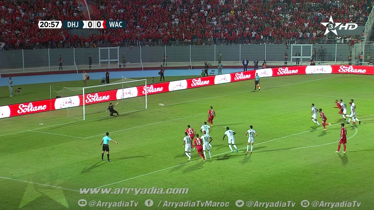 هدف أول ل الوداد الرياضي (محمد ناهيري)