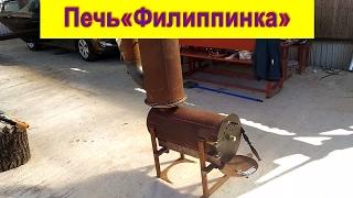 getlinkyoutube.com-Печь буржуйка из газового баллона с вторичным дожигом