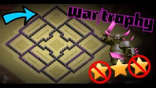 getlinkyoutube.com-TH8 [WAR/TROPHY BASE]ANTI==3STAR/GOWIPE/HOG+ replays!!!epic base!!