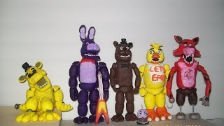 getlinkyoutube.com-Five Nights at Freddy's Clay - All Characters from 1st Game!!!!!