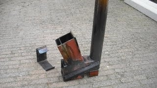 getlinkyoutube.com-Rocket stove (heater) on steroids part 2