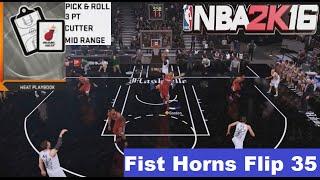 getlinkyoutube.com-NBA 2K16 Heat Playbook Fist Horns Flip 35