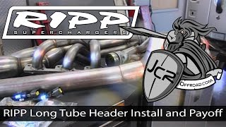 JcrOffroad - RIPP Jeep Wrangler Long Tube Header Install and Payoff