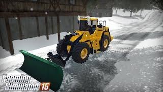 getlinkyoutube.com-Farming Simulator 15 - Snow removal Volvo L180F (Plowable Snow Map)