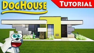 getlinkyoutube.com-The Dog House You Always Wanted 2 - Minecraft / Smallest Modern House / How to Build - Tutorial
