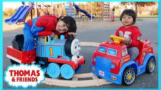 getlinkyoutube.com-PLAYGROUND FUN Thomas and Friends Paw Patrol POWER WHEELS Race Family Fun Playtime Park Thomas Train