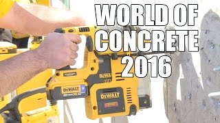 getlinkyoutube.com-World Of Concrete 2016 - DeWALT D25303DH Dust Extractor for 20V MAX SDS