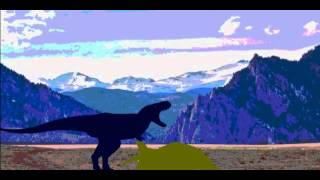 getlinkyoutube.com-Cretaceous Fight Arena  Trike vs T-rex vs V-rex vs Spino vs Deinosuchus part 1