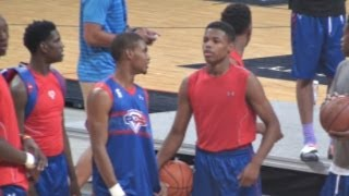 Seventh Woods & Dennis Smith Jr Go At It! Dunk Session at NBPA Top 100 Camp