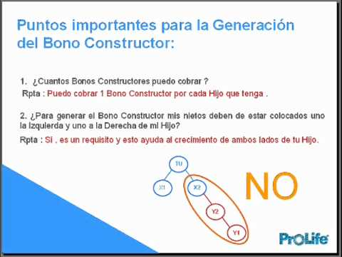 PLAN EVOLUCION PARTE III. Bono Costructor