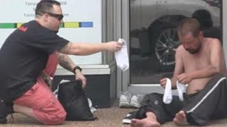 getlinkyoutube.com-THIS HERO WILL MAKE YOU SMILE - Shoes To The Homeless