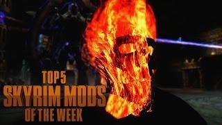 getlinkyoutube.com-Ghost Rider vs. Titan Weapon - Top 5 Skyrim Mods of the Week