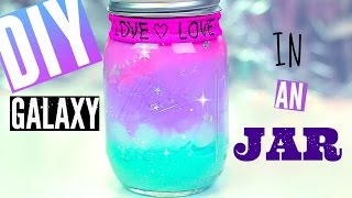 getlinkyoutube.com-DIY Galaxy in a JAR-with Pastel Colors | Pinterest & Tumblr Room Decor Ideas for Teens | Cheap