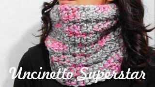 getlinkyoutube.com-Scaldacollo all'uncinetto da fare in un pomeriggio! | Two Hours Crochet Cowl Tutorial