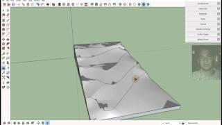 getlinkyoutube.com-Topografia TUTORIAL SketchUp Caja de arena Parte 01 A partir de lineas curvas & Desde contorno