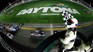 getlinkyoutube.com-Dale Jr. gets win, Dillon OK after crazy crash