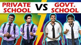 PRIVATE SCHOOL vs GOVERNMENT SCHOOL | The Half-Ticket Shows