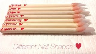 getlinkyoutube.com-HOW TO: Different Nail Shapes ♥