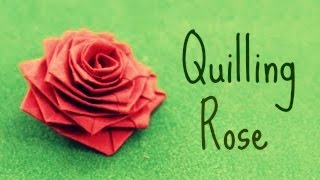 getlinkyoutube.com-How to make a rose with a paper stripe (Quilling Rose)