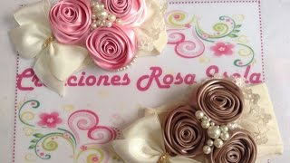 getlinkyoutube.com-Tiara de rosas con perlas Creaciones Rosa Isela   VIDEO No. 233