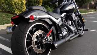 2014 Harley FXSB Breakout with Bassani Road Rage 2-into-1 Exhaust