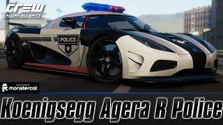 getlinkyoutube.com-The Crew Calling All Units: Koenigsegg Agera R Police (Perf Spec) [Customization + Test Drive]