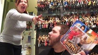 getlinkyoutube.com-Wife RUINS WWE BattlePack Series 34 UNBOXING of Lana and Rusev Wrestling Figures